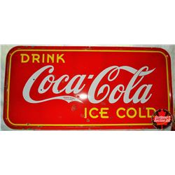"""Porcelain Coca Cola Store Front Sign (47""""H x 95""""L)"""