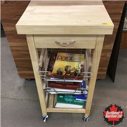 Rolling Display Rack w/Reference & Design Books