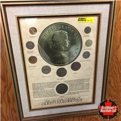 Framed Pre-Decimal Coinage of Queen Elizabeth II