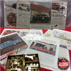 Vintage Auto Magazine Ads (30's, 40's, 50's) & Tin Cars