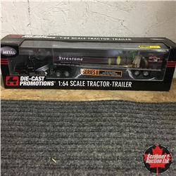 Die Cast 1/64 Scale Firestone Tractor Trailer