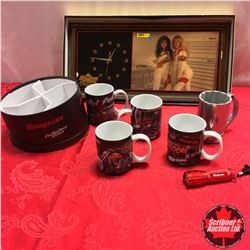 SNAP ON Collectibles (Cups & 1993 Clock)