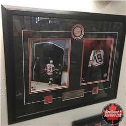 Steve Yzerman Grouping: Framed Photo's Last Game (27  X 21 ), McFarlane Figurine, Souvenir Retiremen