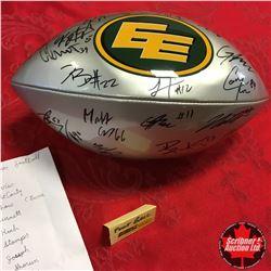 """Edmonton Eskimos """"Multi Autographed"""" Football (22 Signatures!)"""