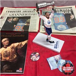 Gretzky Collectibles: McFarlane Figurine, Notable News Papers & Magazine