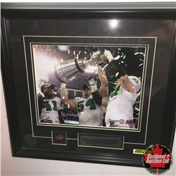 """Framed Pictures - 2007 Saskatchewan Roughriders Greycup Champions : """"Winning"""" 16""""x15"""" AND """"Players C"""