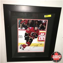 Framed Autographed Picture : #20 Flames - Curtis Glencross 14  X 16