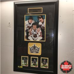 Framed Picture - LA Kings Legends (Autographed: Dave Taylor, Marcel Dionne, Charlie Simmer)