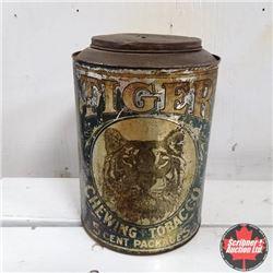 Large Round Tiger Dark Sweet Tobacco Tin