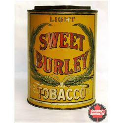 Large Round Sweet Burley Tobacco Tin