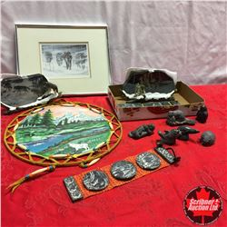 Soap Stone Carvings & Wolf Art Pieces