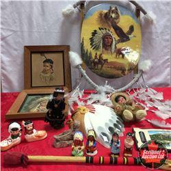 Box Lot: Native Art & Ornaments