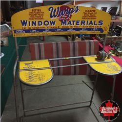 """Warp's"" Window Materials Store Display (41""x60""x21"")"