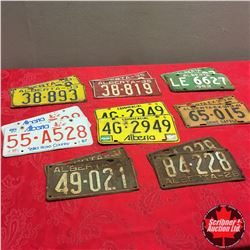 Tray Lot - Lic Plates (16) : Matching Sets (1928, 1931, 1933,1935, 1941, 1962, 1984, 1988)