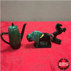 BMP Trio: Coffee Pot, Buffalo & Horse