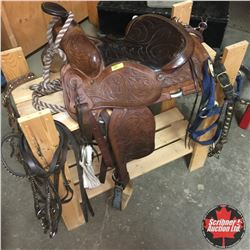 "Children's Saddle 13"" & Tack"
