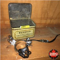 CHOICE OF 3 Combinations: Tobacco Tin (Senator), Spurs & Bolo Tie