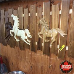 "Wooden ""Horse/Fence"" Wall Art 31""x16"""