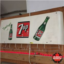 """Fresh Up"" with 7-Up Sign/Rack 54"""