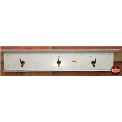 CHOICE of 3 : White Painted Wall Mount Coat Rack 36""