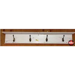 CHOICE of 3 : White Painted Wall Mount Coat Rack 42""