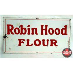 """Porcelain Robin Hood Sign (28"""" x 15"""")"""