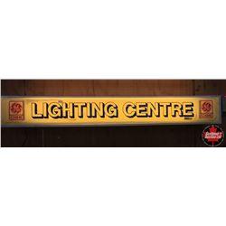 "Light Up Sign ""Lighting Centre"" (Cracked Lens) 46"" x 6"""