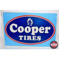 """Metal Cooper Tire Sign 45""""L x 30""""H"""