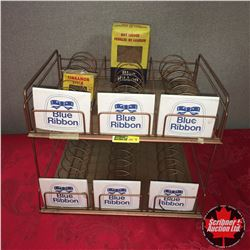 Blue Ribbon Counter Top Display Rack w/2 Blue Ribbon Boxes