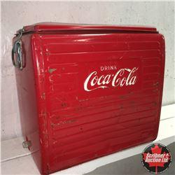 Drink Coca-Cola Picnic Cooler w/Tray !