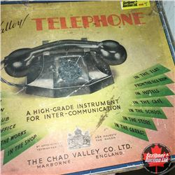 """Chad Valley Telephone"" High Grade Instrument for Intercommunication (Bakelite)"
