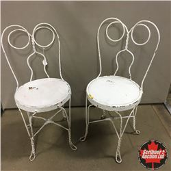 White Parlor Chairs (2)