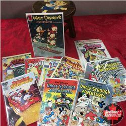 Comic Books (14) + Small Wood Stool