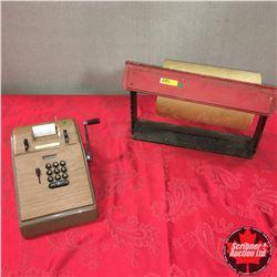 "Victor Adding Machine & Counter Top Paper Roll/Dispenser 16""W"