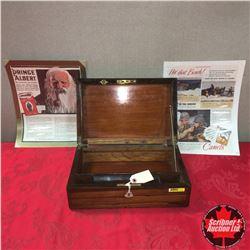 Antique Rosewood Deed Box w/Vintage Cig. Ads