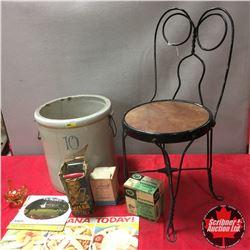 10 Gallon RedWing Crock & Parlor Chair w/Bonus Items! Bottle Warmer, Vaporizer, etc !
