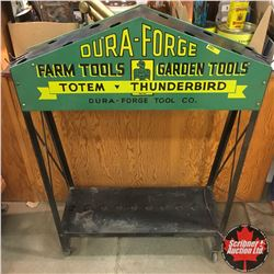 "Dura-Forge Store Display Rack Farm Tools - Garden Tools (33""x42""x11"")"