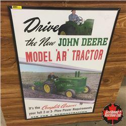 Framed Ad - John Deere Re-Print from Original