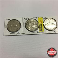 Canada One Dollar : 1953; 1958; 1959