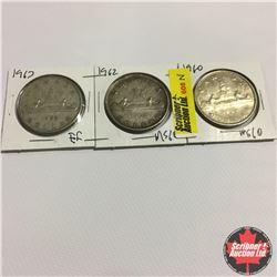 Canada One Dollar : 1960; 1962; 1963