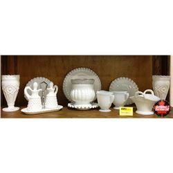 White/Milk Glass Collection (12pcs)