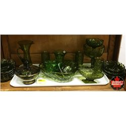 Selection of Green Glassware (20pcs)