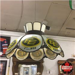 Edmonton Eskimos Swag Lamp