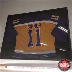 "Simmer #11 LA Kings : Autographed Jersey Framed (41""x31""x2"")"