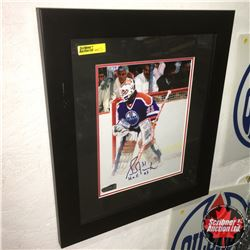 """Grant Fuhr #31 Oilers : Autographed Photograph Framed (14""""x16"""")"""