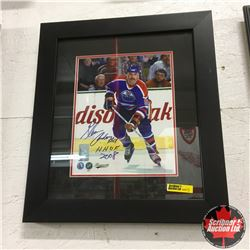 """Glenn Anderson #9 Oilers : Autographed Photograph Framed (14""""x16"""") with Action Magazine - Autographe"""