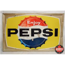 """Pepsi Sign (52""""L x 33""""H)"""