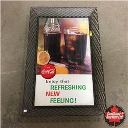 "Mesh Wire Frame ""Drink Coca-Cola"" Cardboard Ad  (20""x31"")"