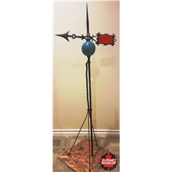 CHOICE of 2 Weathervanes : Red Glass Insert - Blue Globe