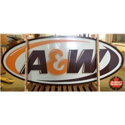 """A&W Large Oval Outdoor Sign (10'W x 51""""H x 10""""D)"""